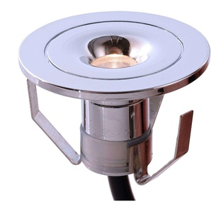 Petite lampe encastrable LED Punto Lumi chromé