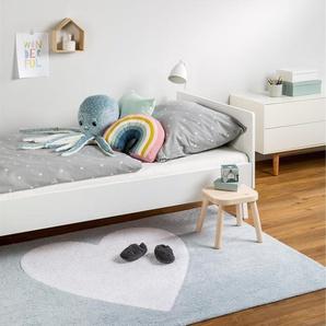 Tapis lavables pour enfants Bambini Heart Bleu 120x160 cm - Tapis lavable pour chambre denfants/bébé