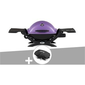Barbecue gaz Weber Q 1200 Purple + Housse