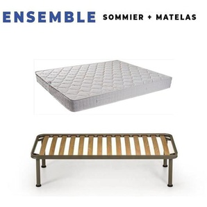 Matelas Tissu Ignifuge 140x200 + Sommier D - KING OF DREAMS