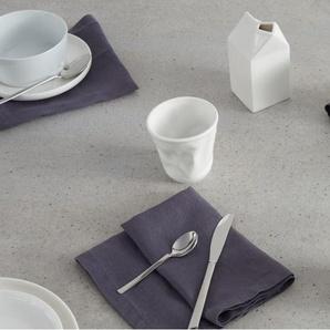 Essentials - Abby, lot de 4 tasses à effet froissé, porcelaine