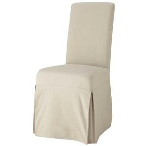 Housse longue de chaise en coton mastic Margaux