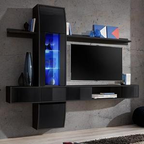 Ensemble meuble télé design noir ALATRI 4