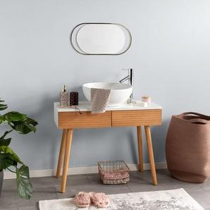 Tapis de Bain Luis Beige/Argent 80x150 cm - Tapis pour salle de bain