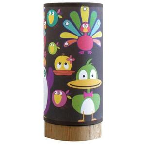 LUMPI KEEDZ-Lampe à posert Chêne/Lin motifs Canards H25cm Multicolore Blumen