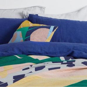 Huasteca, plaid 100% coton tissé, multicolore