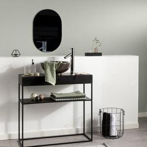 Tapis de Bain Bono Gris/Blanc 60x100 cm - Tapis pour salle de bain
