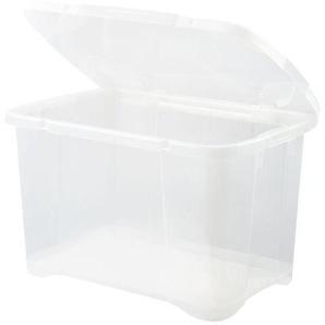 EDA PLASTIQUE Boîte de rangement ClipBox 40 L - Naturel couvercle avec charnière - 54 x 36 x 33 cm