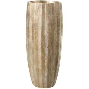 Vase doré effet vieilli H80