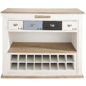 Meuble de bar avec tiroirs en bois blanc L129 Molene