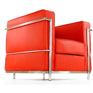 LC2 Fauteuil Le Corbusier - Rouge