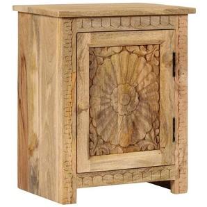 Table de nuit chevet commode armoire meuble chambre bois de manguier massif 40 x 30 x 50 cm - Bois - HELLOSHOP26
