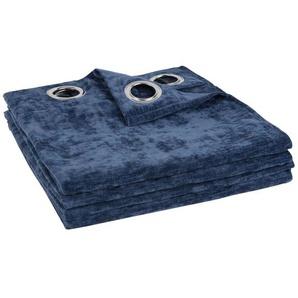 Rideau à illets bleu 135x270