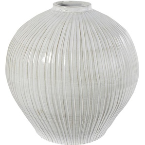Vase boule en terre cuite blanche H49