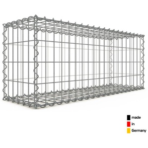 Gabion 100x40x30cm « made in Germany » - mailles rectangulaires 5x10cm - GABIONDECO