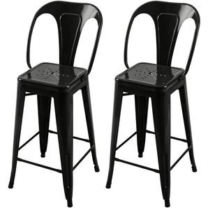 Chaise de bar mi-hauteur Indus noire 66 cm (lot de 2) - RENDEZ VOUS DéCO