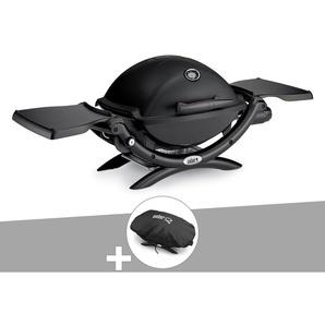 Barbecue gaz Weber Q 1200 Noir + Housse