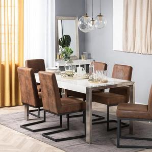 Lot de 2 chaises porte-à-faux marron ARCTIC