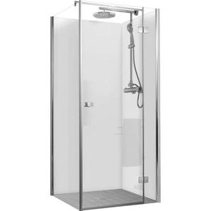 Lot de 3 panneaux muraux 90 x 210 cm, revêtement pour douche et salle de bains, Décodesign Couleur, Schulte, blanc