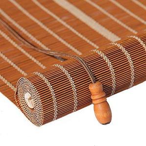 Store En Bambou Enroulable Rideau en bambou aveugle rouleau - Rideau en bambou naturel Nanmu cordon étanche à la poussière et imperméable à leau creuse de salle de thé creux [3 couleurs 23 tailles]