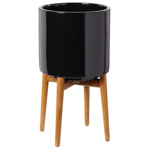 Cache-pot en céramique noire H43