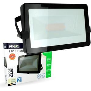 Lot de 5 Projecteurs LED 50W Noir Extérieur IP65 | Température de Couleur: Blanc neutre 4000K - ECLAIRAGE DESIGN