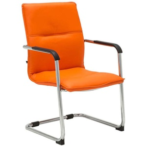Chaise visiteur Seattle similicuir orange - PAAL OFFICE FURNITURE
