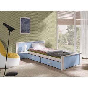 Lit junior Aldo avec tiroirs de rangement - Bleu - 70 cm x 160 cm