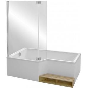 Jacob delafon - Baignoire douche Neo avec pare bain - version droite ou gauche, 160 X 70/90 - version droite