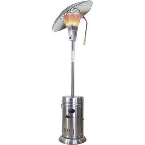 Parasol chauffant 13KW SAHARA LUXE Inox Orientable Allumage électronique + Connectique gaz + Lest anti bascule. Haute qualité