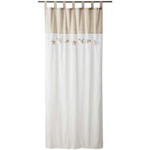 Rideau à passants en coton bicolore à lunité 102x250