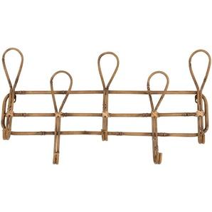 Patère 5 crochets en métal imitation bambou