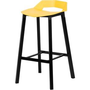 Chaise de bar Goya jaune 70 cm - RENDEZ VOUS DéCO
