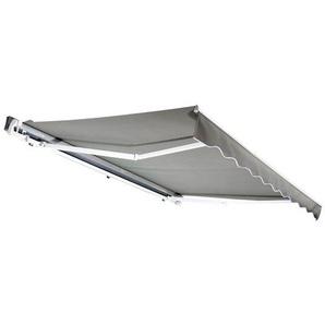 Auvent manuel de jardin terrasse store aluminium retractable 3,95L x 3l m gris - HOMCOM