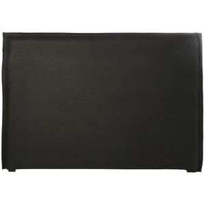 Housse de tête de lit 160 en lin lavé gris charbon