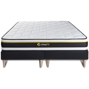 Ensemble double sommier 90x200 + matelas SOFT 180x200 - SLEEPFIT