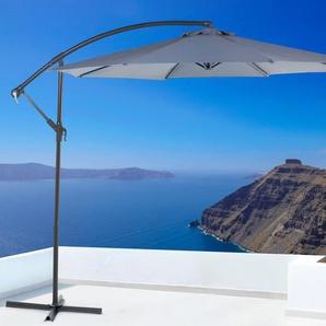 Parasol en métal avec toile anthracite ø 300 cm RAVENNA