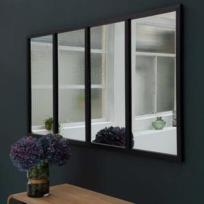 Miroir atelier verrière horizontale rectangulaire métal noir Bricklane  Factory - GM