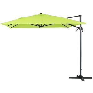 Parasol jardin déporté Alu Sun 4 - Rectangle- 3 x 4 m - Vert - HABITAT ET JARDIN