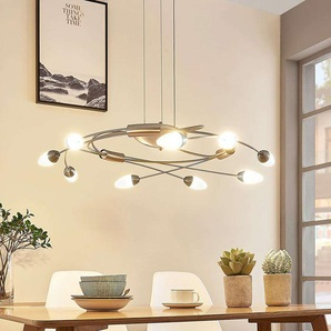 Suspension LED Deyan, dimmable, 9 lampes
