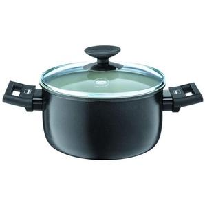BERNDES Casserole avec couvercle Clever Alu Spécial Elégance - Ø 16 cm - Noir et transparent