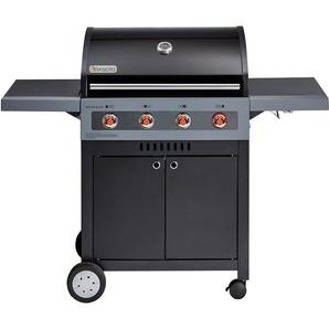 BRASERO - Barbecue Boston Black 4K Turbo - 4 brûleurs dont 1 Turbo Zone - 14,7 kW