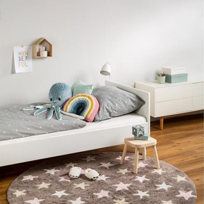 Tapis lavables pour enfants Bambini Stars Rose ø 150 cm rond - Tapis lavable pour chambre denfants/bébé