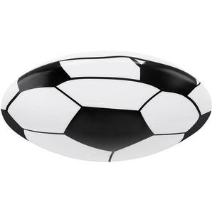 LED Plafonnier en forme de ballon de football, noir et blanc, rond, LEMMI - GLOBO