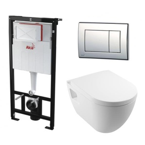 Alca Plast Set WC sans bride tout en un (Alcastarset-sm26)