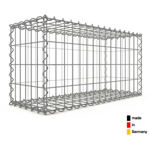 Gabion 80x40x30cm « made in Germany » - mailles rectangulaires 5x10cm - GABIONDECO