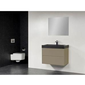 Saniclass New Future Black Spirit Meuble salle de bain 80cm avec miroir taupe
