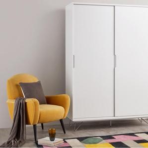 Elona, armoire à portes coulissantes, blanc brillant