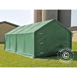 Tente de Stockage Tente Abri PRO 4x8x2,5x3,6m, PVC, Vert - DANCOVER