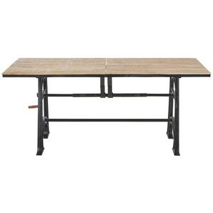 Table à manger indus extensible 8 à 10 personnes L180/220 Manivelle